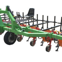 Interrow cultivator 8-section with sliding beam and hydraulic folding.